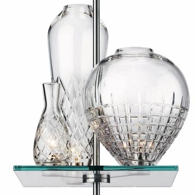 Brilliant Design Three Etched Glass Vase Designer Pendant Lighting
