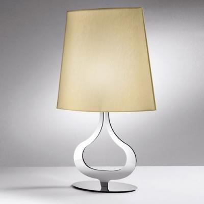 Elegant Fabric Shade and Chrome Finished Base Modern Designer Table Lights
