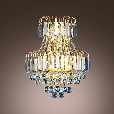 European Style and Graceful Sensibilities Shine Through Crystal Wall Sconce