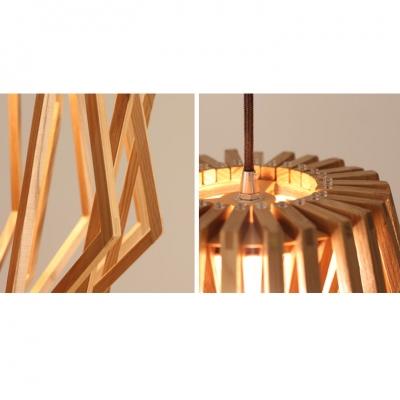Exquisite Wooden Basket Design Modern Large Designer Pendant Light