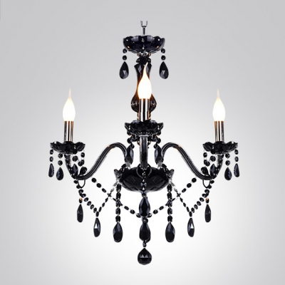 Jet black 3 light crystal 236high chandelier hanging majestic jet black 3 light crystal 236 aloadofball Images