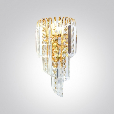 Make Your Home Shine with Gorgeous Wall Sconce Adorned with Strands of Crystal Beads