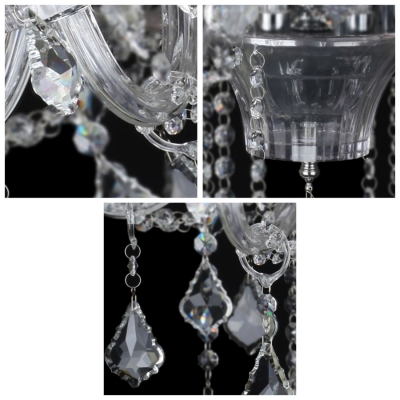 Spectacular Beaded Crystal Hanging Faceted Crystal Droplets 23.6
