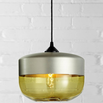 Tank Shade Champagne Socket Industrial Colored Pendant Light