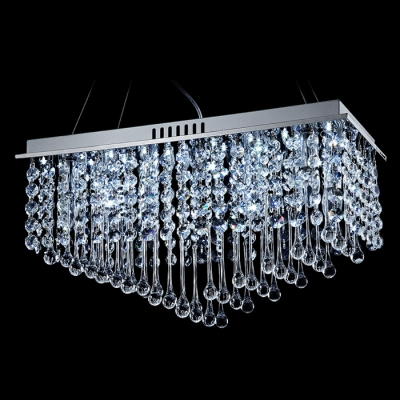 Unique Design Allows You Adjust the Width of Contemporary Crystal Chandelier