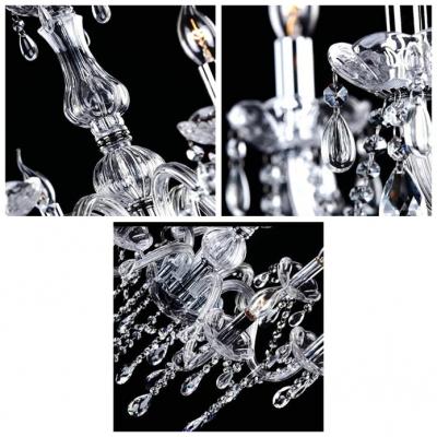 Wonderfully Six Candle Lights Sparkling Crystal Chandelier Hanging Crystal Droplets