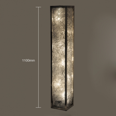 Aluminum wire adorned long standing rectangle floor lamp aluminum wire adorned long standing rectangle floor lamp aloadofball Images