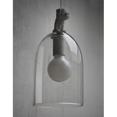Cute Dog Design And Stunning Hand-Blown Glass Shaded Designer Pendant Light