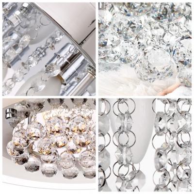 Elegantly Rounded Cluster of Crystal Spheres Brilliant Design Flush Mount Lights