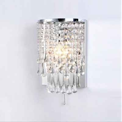 Polished Chrome Finished Frame Made Crystal Wall Sconce Welcomed Addition to Your Decor