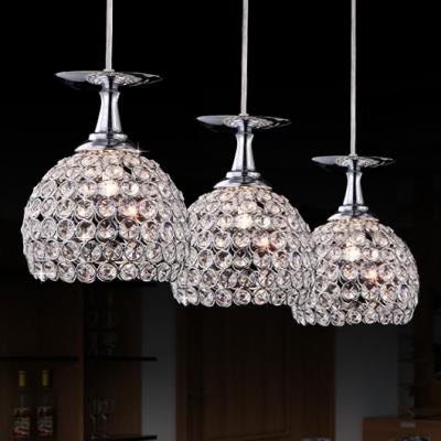 round canopy modern bowl design stunning crystal multi light pendant add elegant and graceful