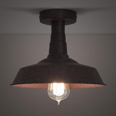 10'' Wide Rust 1 Light Semi Flush Ceiling Fixture