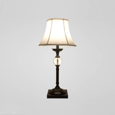 Solemn Table Lamp Fixture Features Elegant Iron Black Frame With