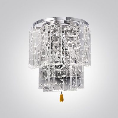 Splendid Square Crystal Falls Embellished Sparkling Wall Washer Perfct for Living Room