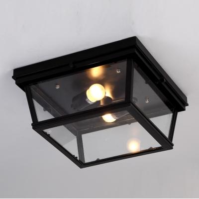 Black led flush mount ceiling light 2 light with glass shade black led flush mount ceiling light 2 light with glass shade aloadofball Choice Image