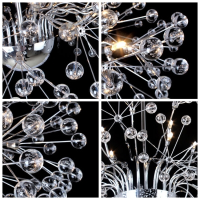 Wonderful and Exquisite Clear Crystal Small Globes Burst Whimsical Pendant Lighting