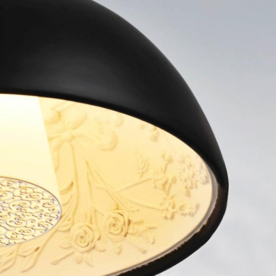 """Chic And Charming Large Bowl Designer Pendant Light 16.5""""Wide"""