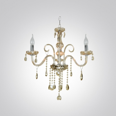 Chic and Lovely Crystal 3-Light Mini Foyer Chandelier Lighting
