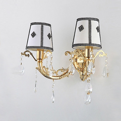 Comforting European Style Makes Two-light White Wall Sconce Perfect for Hallway