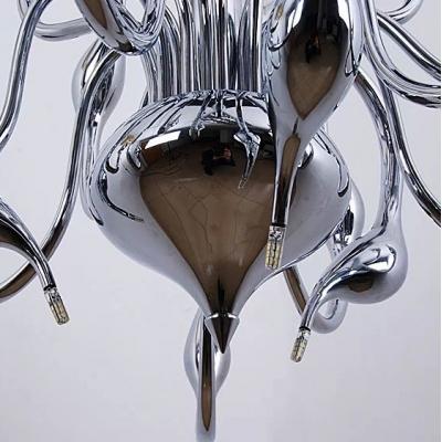 Led Swan Chandelier Chrome 18-Light