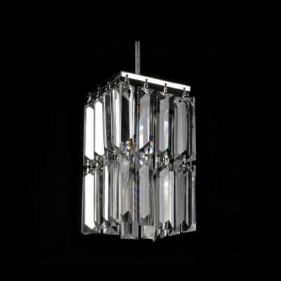 Delicate Cube Mini Pendant Provides Eye-catching Accent with Square Crystals