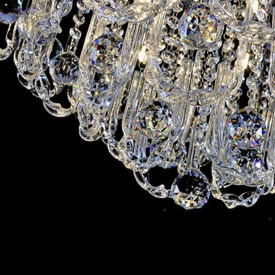 Elegantly Stainless Steel Canopy Glittering Crystals 23.6