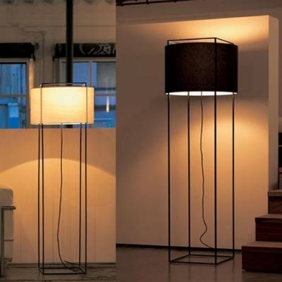 """Fabric Drum Shade Classic Designer Floor Lamp 64.9""""High"""