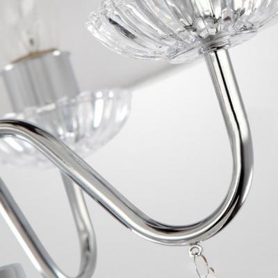 Hanging Stunning Clear Crystal Balls 4-Light  Chandelier Ceiling Lights