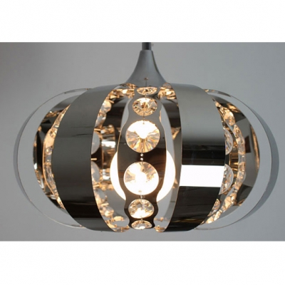 Intriguing Globe Shaped Glittering Crystal Accented Pendant Lighting