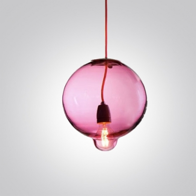 Novel Pendant Light Crystal Ball in Rosy/Amber/Clear Color