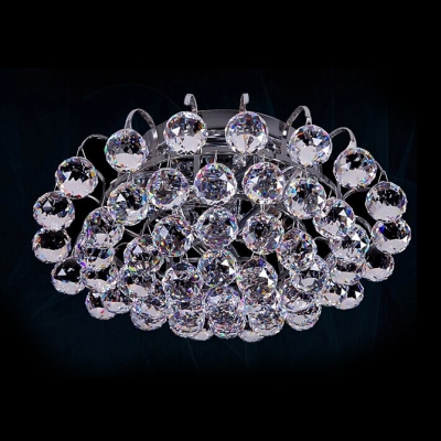 Plentiful Bright Crystal Balls Waterfall Rounded 11.8