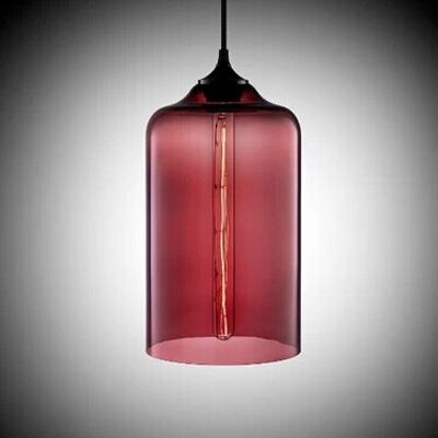Vintage Industrial Colored Glass LOFT Downward Chandelier Pendant