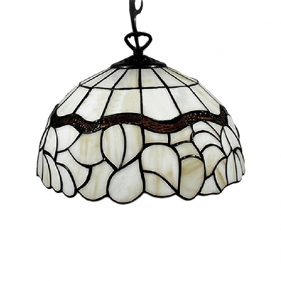 12 Inch Width Tiffany Style Vintage Shade Mini Pendant Light