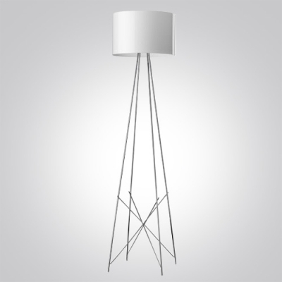 Beau ... 50.4u201dHigh Drum Shade Stainless Steel Support Designer Floor Lamp ...
