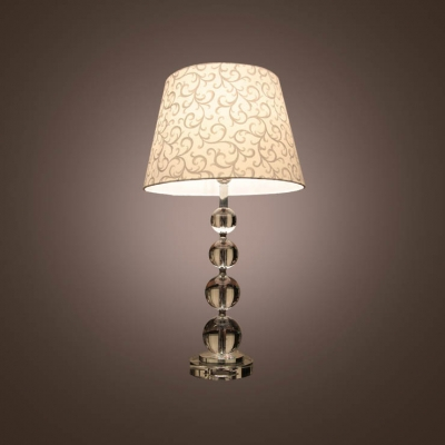 Fashion style table lamps crystal lights beautifulhalo beautiful fabric shade with lead crystal table lamp features four stacked crystal globes create the base aloadofball Images