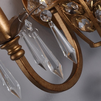 Charming Two Light Crystal Wall Sconce with Intricate Decorative Details