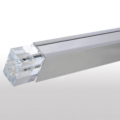 Chrome Finished LED 12-light Modern  Close to Ceiling Light
