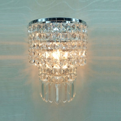 Dazzling Gold Finish and Gleaming Crystal Beads Composed Stunning Wall Sconce