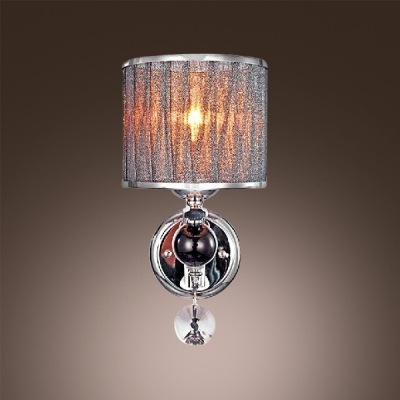 ... Glittering Modern Wall Sconce Features Beautiful Crystal Drops And  Polished Chrome Finish Offers Glamorous Embellishment ...