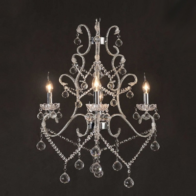 Graceful Scrolling Arms Add Glamour and Elegance to Stunning Crystal Chandelier