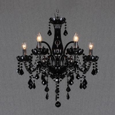 Jet black 6 light 244wide mysterious crystal traditional style jet black 6 light 244 aloadofball Choice Image