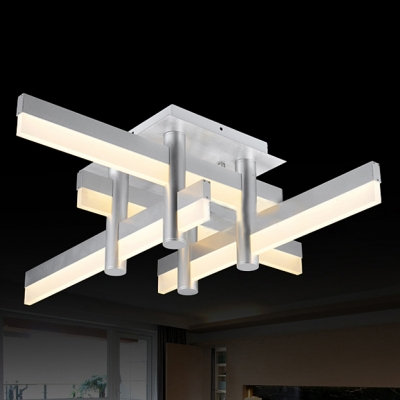 Medium LED Bar Modern Cool Lighted Flush Mount Ceiling Light