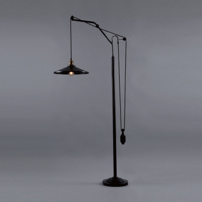 Industrial style oiled rubbed bronze farmhouse single light floor industrial style oiled rubbed bronze farmhouse single light floor lamp aloadofball Image collections