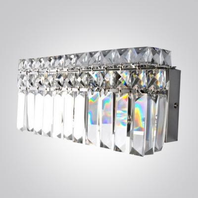Add Dazzle to Your Bath with Glamorous Hanging Crystal Wall Light Fixture