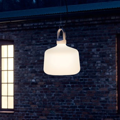Barn Light Glass Pendant In Vintage Industrial Style