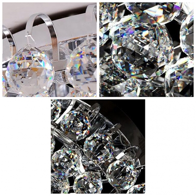 Brilliant Crystal Semi Flushmount light fixture with Dazzling Hanging Crystal Balls Create Dainty Look