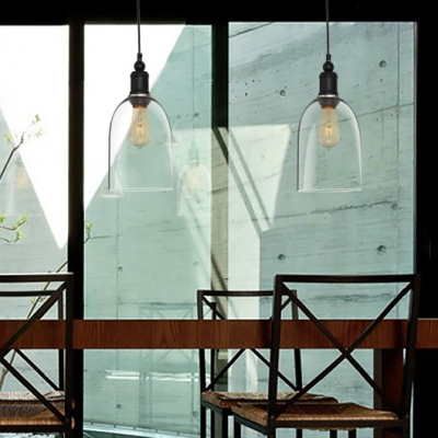 dome shape clear glass loft mini pendant light - Clear Glass Pendant Light