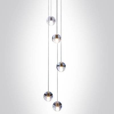 Cascade Glass Ball Pendant Light 5 Light Gallery