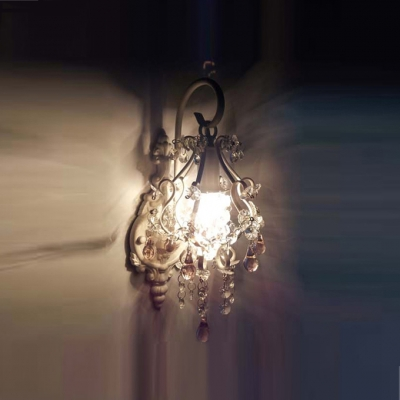 Hand-cut Crystal Drops Adds Sparkling Finishing Touch to Timeless Metal Wall Sconce