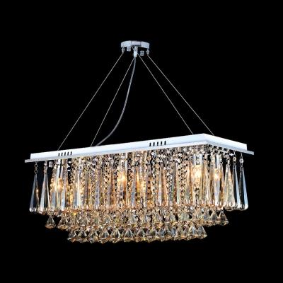 Hanging Crystal Strands Give Elegant Flowing Look Crystal Pendant Light